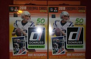 2018-PANINI-Donruss-Football-Orange-Hanger-Box-Lot-Chase-Allen-Lamar-Barkley-Rc