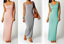 Damen Neu Strandkleid Sommerkleid  BOHO Style Maxi Lange Kleid Stretch S – XXXL