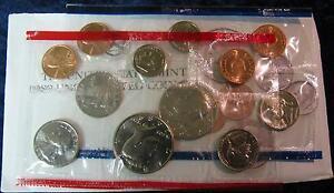 1989-P-amp-D-Mint-Set-Brilliant-Uncirculated-US-Coins-In-OGP-W-Envelope-amp-COA