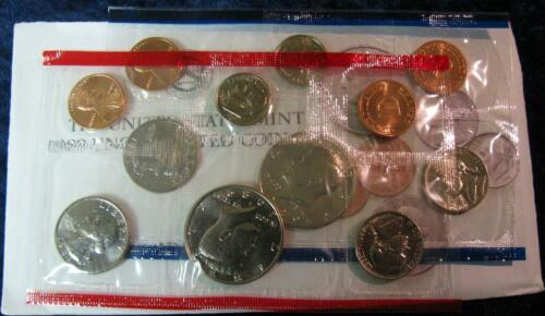 1989 P/&D Mint Set Brilliant Uncirculated US Coins In OGP W// Envelope /& COA