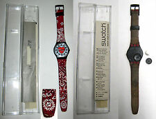 SWATCH QUARTZ  GB154 1993 Cuore Hearts Button Punk Red + SCATOLA USATO