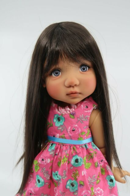 Monique PEGGY SUE Wig Dark Brown Size 10-11 SD BJD shown on My Meadow MAE