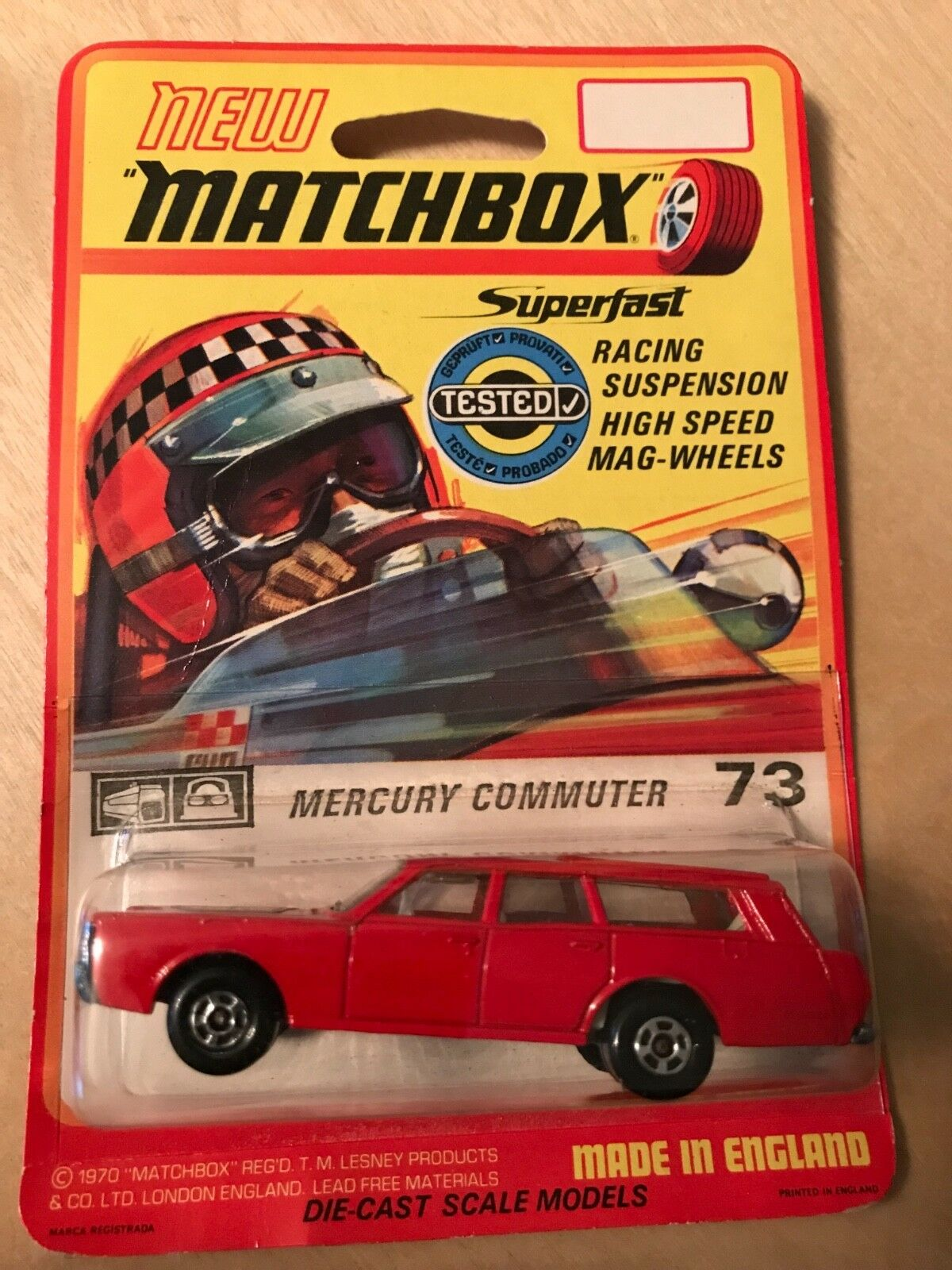 MATCHBOX MERCURY COMMUTER 73 Made in 1969 1970 1970 1970 in (environ 5003.80 cm) Blister. Rare. Comme neuf 271570
