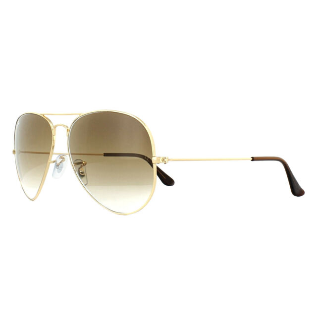 Ray-Ban Lunettes De Soleil Aviateur 3025 Gold Brown Gradient 001 51 Large 62 d7ab7046989b