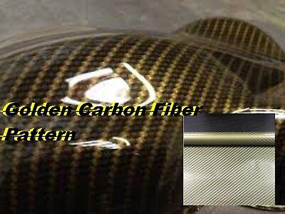 "GOLD CARBON FIBER Hydrographics Film Water Transfer Printing 19X79/"" FAST SHIP"