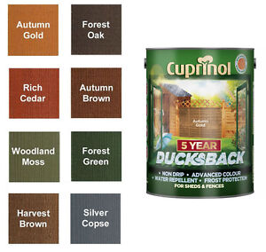 Cuprinol 5 year ducksback shed fence stain 5 litres all - Cuprinol exterior wood paint colours ...