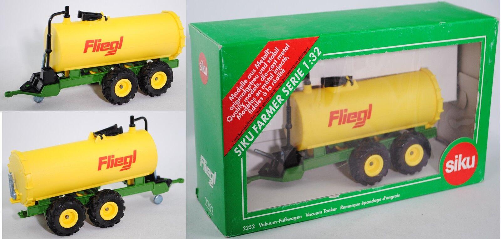 SIKU FARMER 2252 vide-Faßwagen, Zinkjaune vert prairie, Guyot 1 32 publicitaires boîte