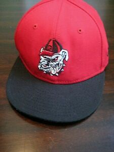 Details about NEW ERA Univ. of Georgia Bulldogs UGA Wool Flat Bill Cap Hat-  Fitted Size 6 3 4 eadc13b421a