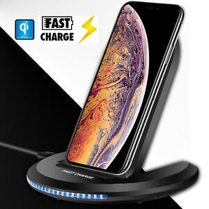 quality design 8d060 925ba Details about For Apple iPhone XS Max/XR/XS Qi Wireless Charger Charging  Pad Holder Stand Dock
