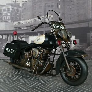 Xl Blechmodell Motorrad 40cm Police Metallmodell Polizei Blech