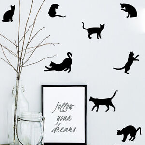 9Pcs-Cat-Kitten-Wall-Stickers-Vinyl-Art-Children-Kids-Room-Ceiling-Wall-Decal