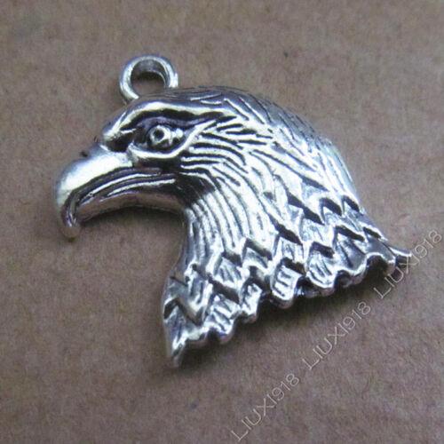 10pc Tibetan silver charms ciondolo Eagle/'s Head Ciondoli Gioielli rendendo b530p