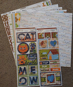 4 Sheets Cat Things 12x12 Scrapbook Paper