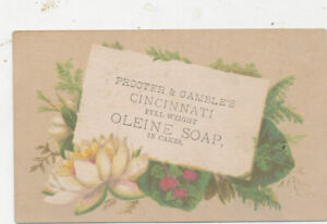 D1298  VICTORIAN TRADE CARD  PROCTOR & GAMELES SOAP  CALLING CARD TYPE