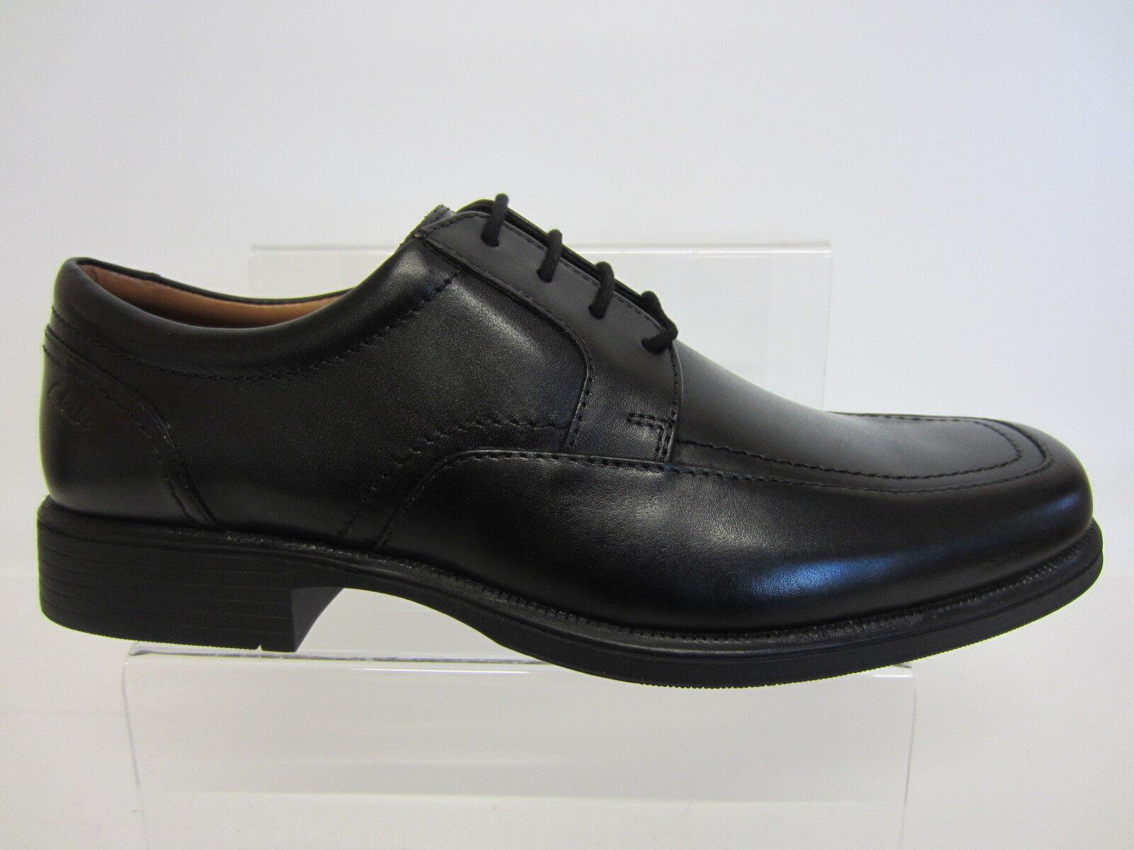 Clarks Hombre huckley Spring tallas Zapatos negros de piel tallas Spring 7 x 12 Ajuste G b53d9a