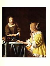 """1981 Vintage VERMEER """"MISTRESS AND MAID"""" LOVELY COLOR offset Lithograph"""