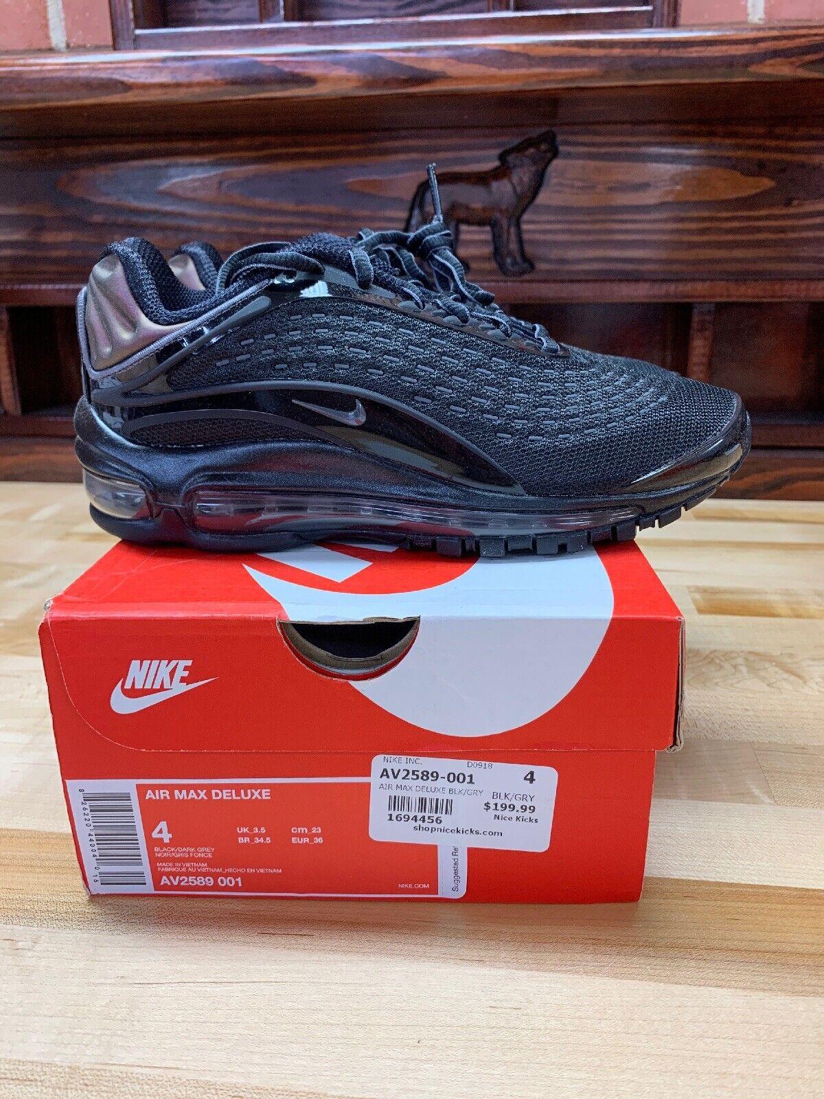 Nike Air Max Deluxe Sz 4 Black Bronze