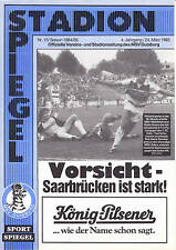 II. BL 84/85  MSV Duisburg - 1. FC Saarbrücken, 24.03.1985