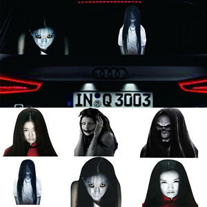 SUV Car Sticker 3D Skull Auto Hoods Trunk Thriller Rear Window Reflective Decal