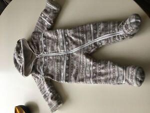 Jacken, Mäntel & Schneeanzüge Topomini Schneeanzug Baby Fleece-overall Mit Norwegermuster Dauerhafter Service
