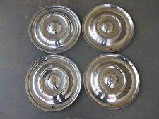 """Vintage 1950 1951 1952 Oldsmobile 15"""" 15 Inch Hubcaps Wheelcovers  (4)"""