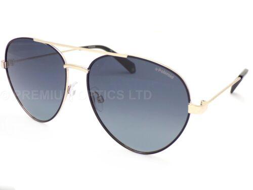 POLAROID metal Black Light Gold Sunglasses Dark Grey Polarized Lens PLD6055 807