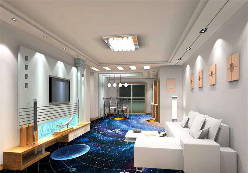 The Cosmic Vortex 3D Floor Mural Photo Flooring Wallpaper Home Print Decoration