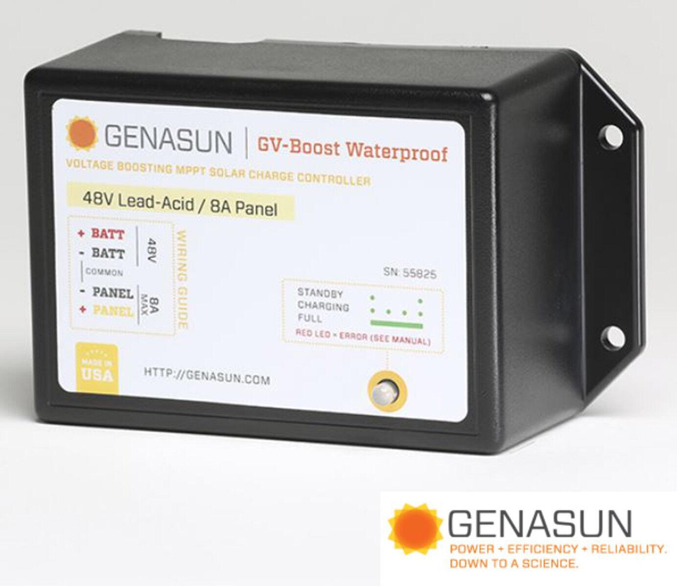 GENASUN GVB-8-PB-48V-WP MPPT CHARGE CONTROL VOLTAGE BOOST 48 VDC 8A WATERPROOF