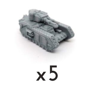 Details about Chars Macharius x5 vehicle tank Warhammer Epic 40k 30k proxy  6mm