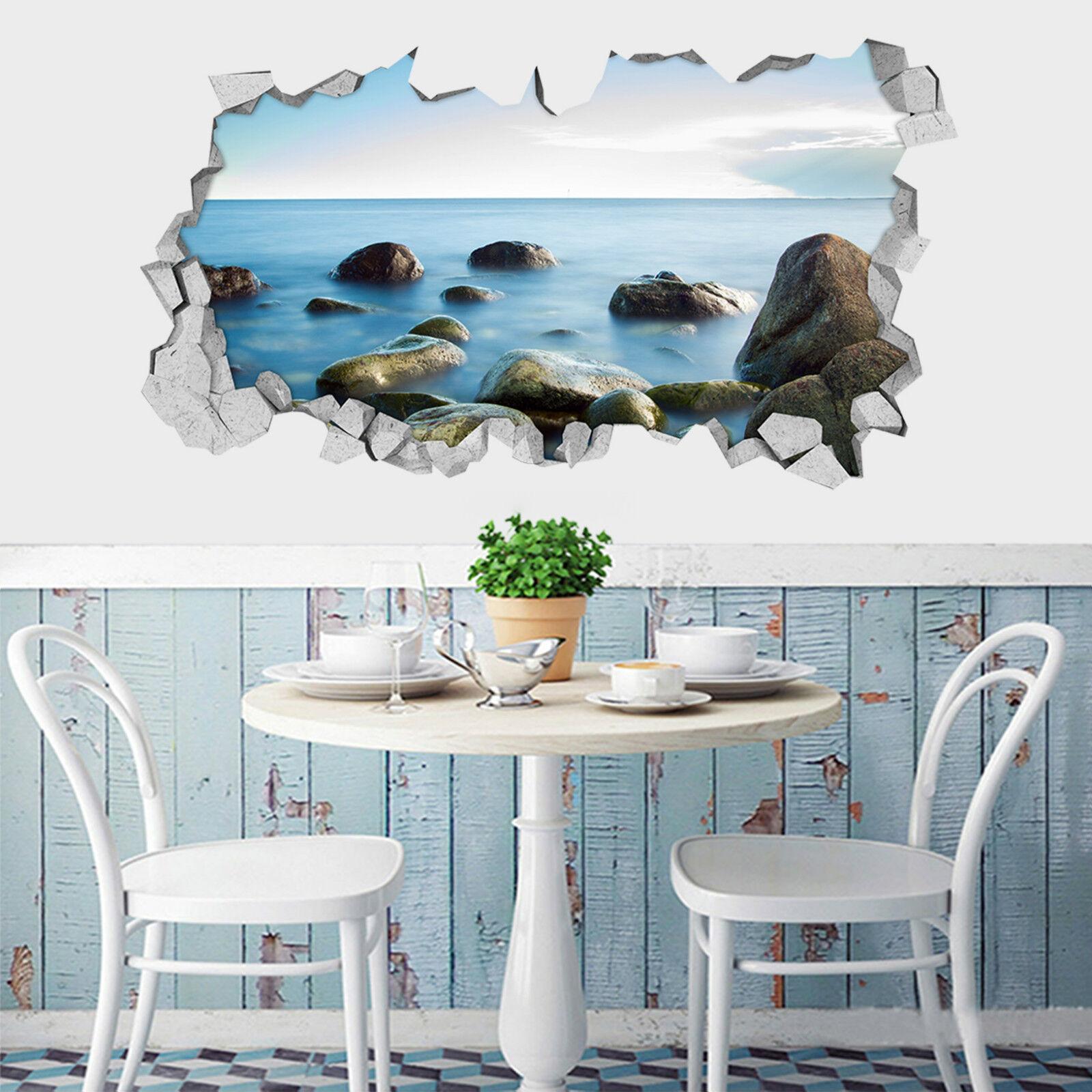 3D bluees Meer 523 Mauer Murals Aufklebe Decal Durchbruch AJ WALLPAPER DE Lemon