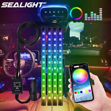 48 Led Rgb Car Interior Atmosphere Neon Lights Strip Music Bluetooth App Control