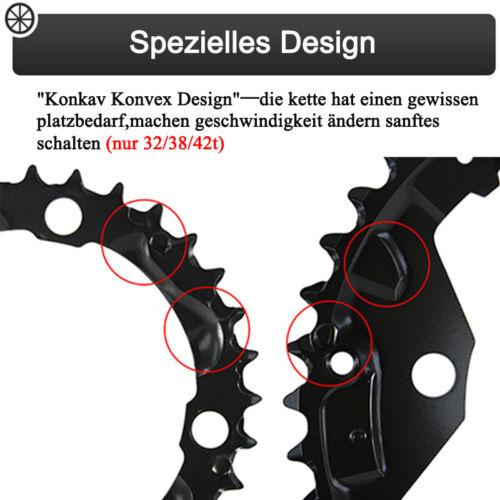 2X10//3X10 24//26//32//42t 104//64mm Kettenblatt MTB Fahrrad Aluminium Kurbelgarnitur