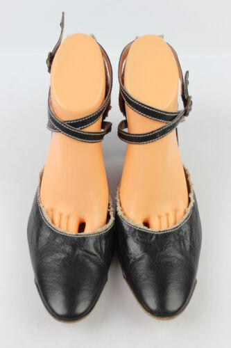 con de Leather Zapatos All 41 Muy buen T estado Black bridas corte Muratti xggwHT