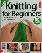 Knitting For Beginners UK Issue 6 80 Pages of Patterns Projects FREE SHIPPING sb