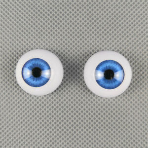 Half Round Acrylic Eyeballs Blue Eyes For Reborn Dolls BJD OOAK Doll Supplies