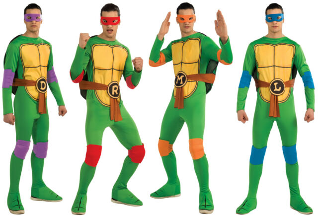 MENS Teenage Mutant Ninja Turtles Costume Turtle Halloween Adults TMNT 3D Shell