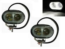 2x 20W 4D LENS OVAL CREE SPOT LED FOG/ WORK LIGHT FOR Harley Davidson