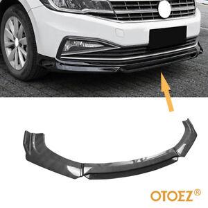 Carbon Fiber Universal Car Front Bumper Lip Spoiler Splitter Protector Glossy