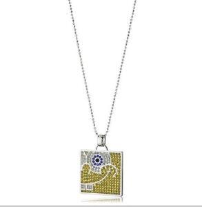Simmons-Jewelry-co-Sterling-Spongebob-Squarepants-TM-collar-de-cristal-de-Swarovski