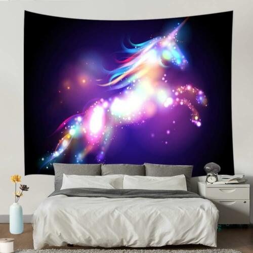 Colorful Licorne Tapestry Wall Hanging Décoration Bright Spots Chambre à Coucher Décor