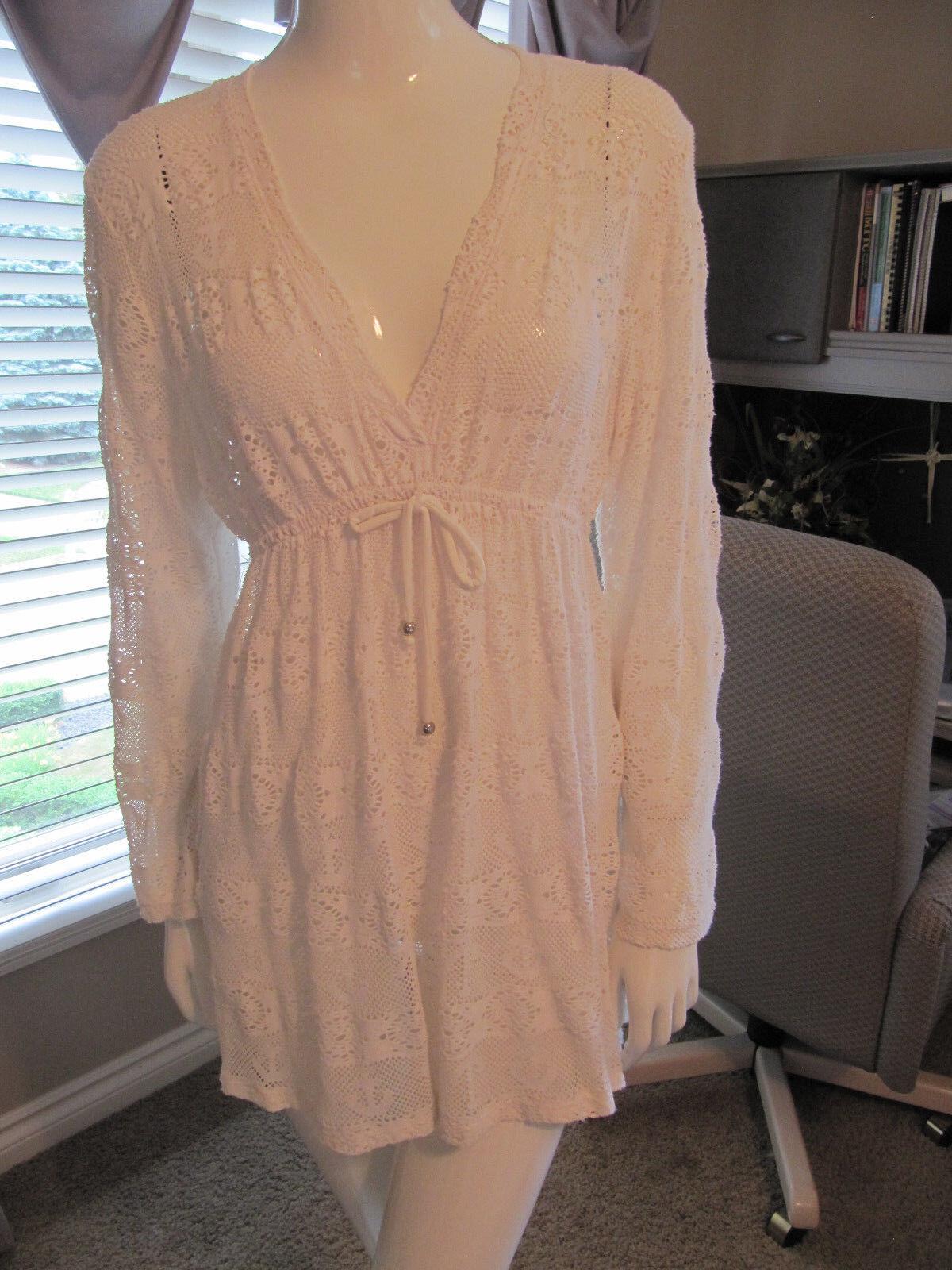 Nautica Women's White LaceTunic Swim Cover-Up Dress Dress Dress NWOT Small a7094c