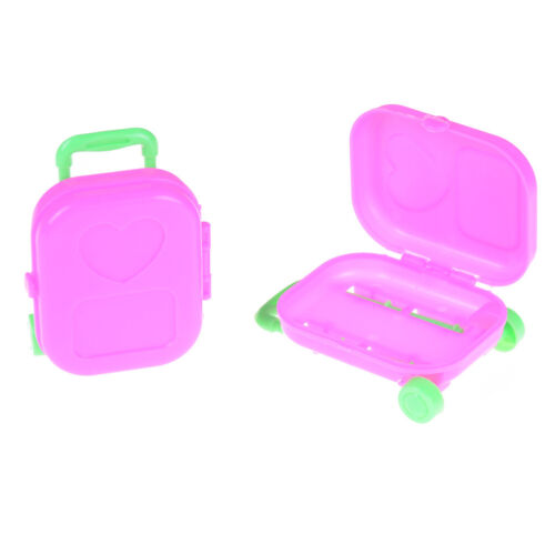 1PC Lovely  Doll Travel Train Suitcase Luggage Case Doll House Play Toy Hs
