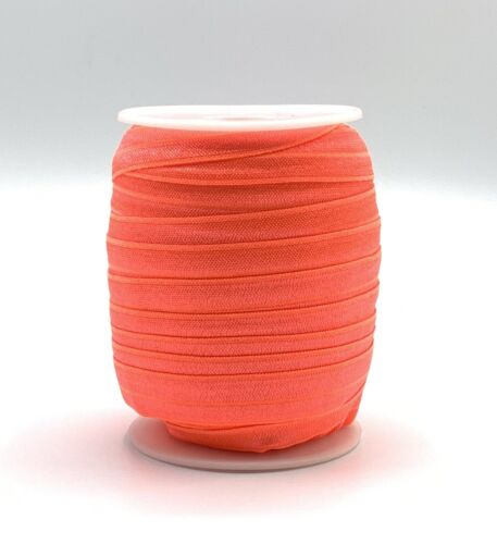 16mm NEON Fold Over Elastic Lingerie Elastic Dance Wear Trim 1m 3m Hair Ties