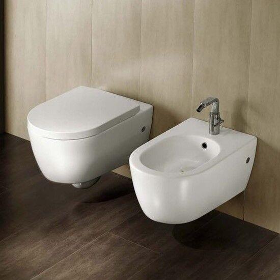 Hatria Fusion Sanitaire Suspendus sans Brida Salle de Bain Moderne Céramique