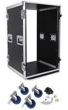 Pro X TOV T-18RSS 18U Space Vertical DJ Amp Rack Flight Case 3/8 ATA300 w/Wheels