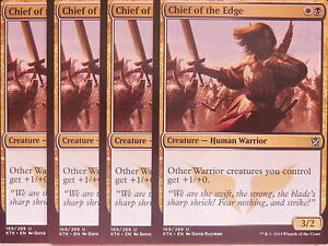 XXX 4x Chief of the Edge inglés Khan of tarkir (human Warrior) nm/mint XXX  </span>