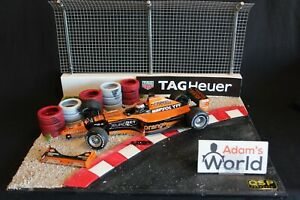 QSP-Diorama-Formula-1-2000-1-18-Jos-Verstappen-039-s-Arrows-14-in-the-tire-wall