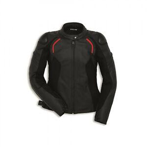 DUCATI-Dainese-STEALTH-C2-DAMEN-Lederjacke-Jacke-Leather-Jacket-Lady-schwarz-NEU