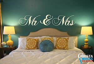 Mr Mrs Couple Love Bedroom Wall Art Quote Decor Room Decal Sticker