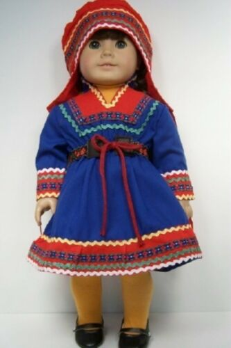 SCANDINAVIAN Costume National Dress Doll Clothes SHOES For 18 American Girl Debs